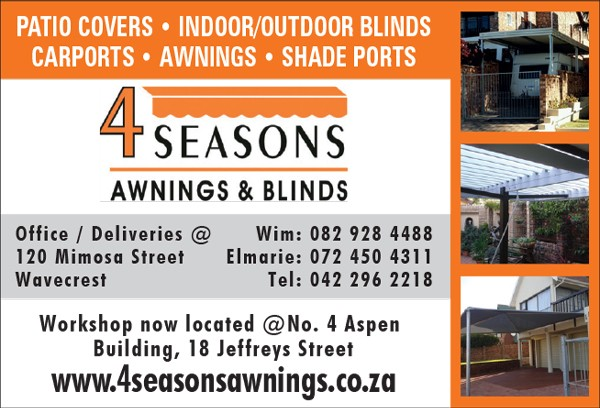 4 Seasons Awnings Blinds Jeffreys Bay Awnings And Canvas Phone