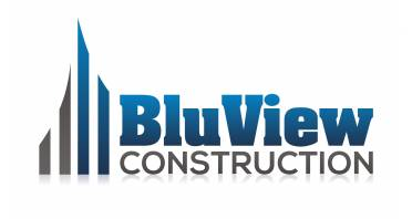 BluView Construction Logo