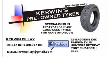 Kerwin's Pre-Owned Tyres Logo