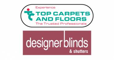 Top Carpets & Floors and Designer Blinds & Shutters Logo