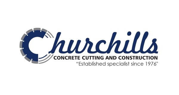 Churchills Concrete Cutting & Construction Logo